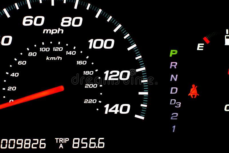 Geschwindigkeitsmesser im Park stockfoto