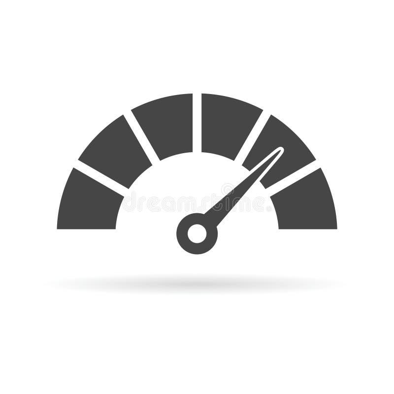 Geschwindigkeitsmesser- oder Messgerätikone lizenzfreie abbildung