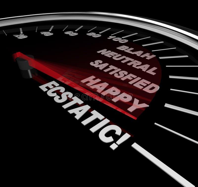Geschwindigkeitsmesser - Stufen Des Glückes Lizenzfreie Stockfotografie