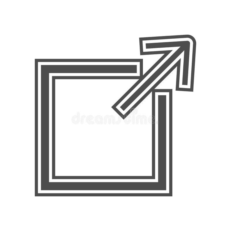 Geschwindigkeitsmesserikone Element von minimalistic f?r bewegliches Konzept und Netz Appsikone Glyph, flache Ikone f?r Websiteen lizenzfreie abbildung