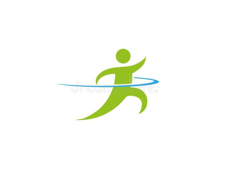 Geschwindigkeitssprinter ein Athlet schnell laufen gelassen für Logoentwurf vektor abbildung