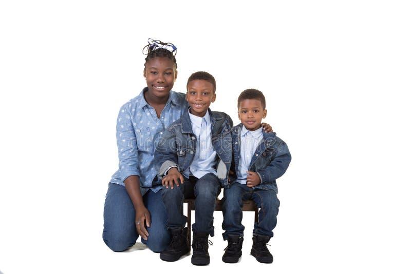 3 Geschwister lizenzfreie stockfotos