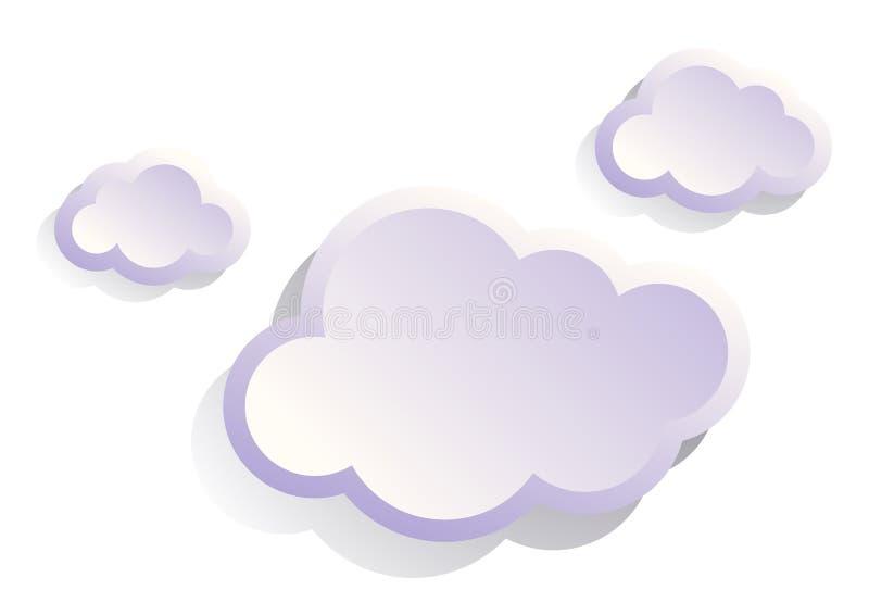 Geschwollene weiße moderne Wolken lizenzfreie abbildung