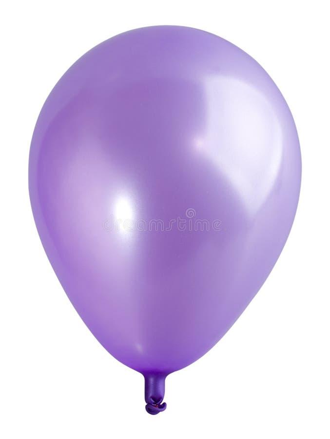 Geschwollener violetter Ballon stockfoto