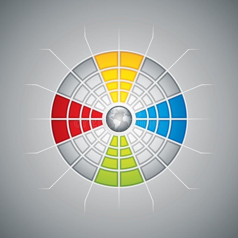 Gesegmenteerd presentatiemalplaatje vector illustratie