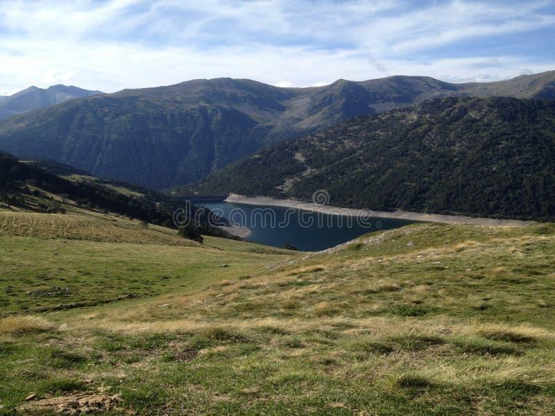 Gesehene Seen Des drei in der Reserve hohen Pyrenäen-neouvielle Frankreich, seine Berge stockbild