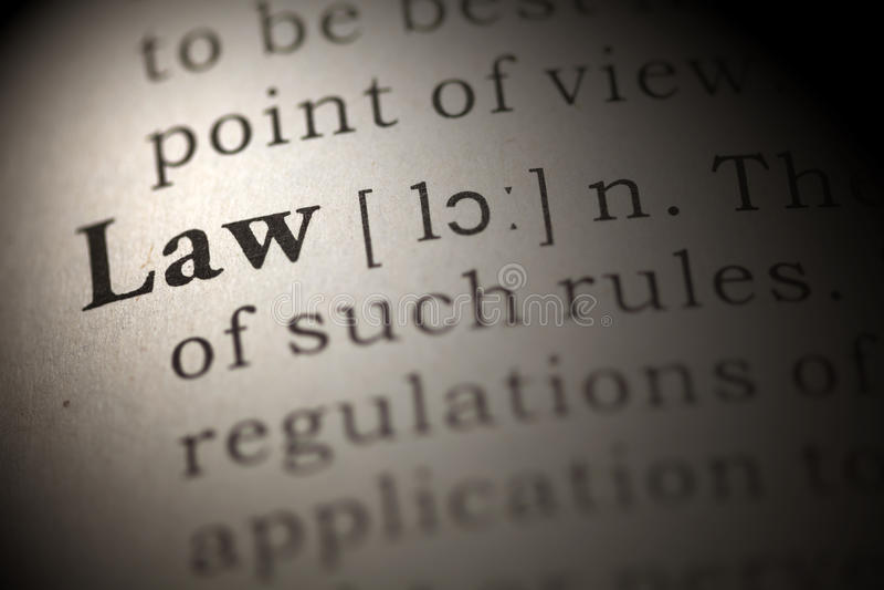 Gesetz lizenzfreies stockbild
