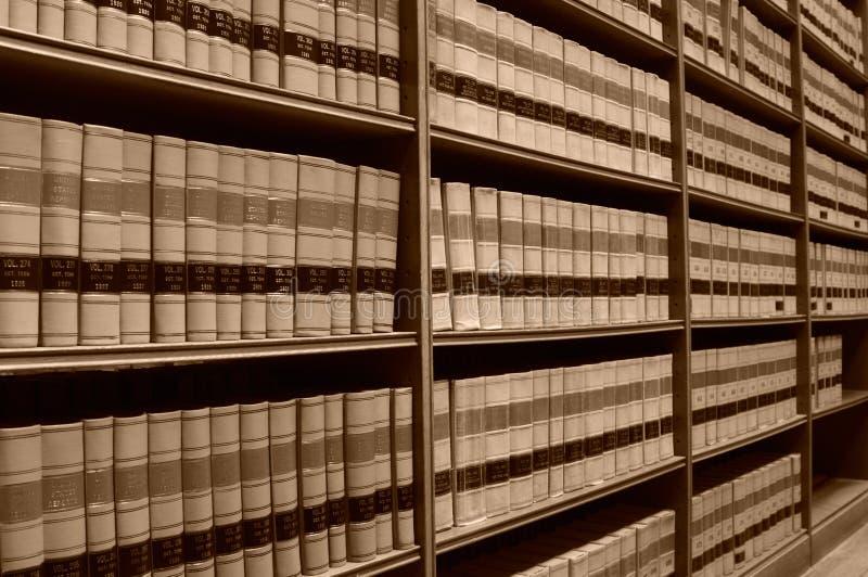 Gesetz-Bibliothek - alte Gesetzbücher 2 stockfotografie