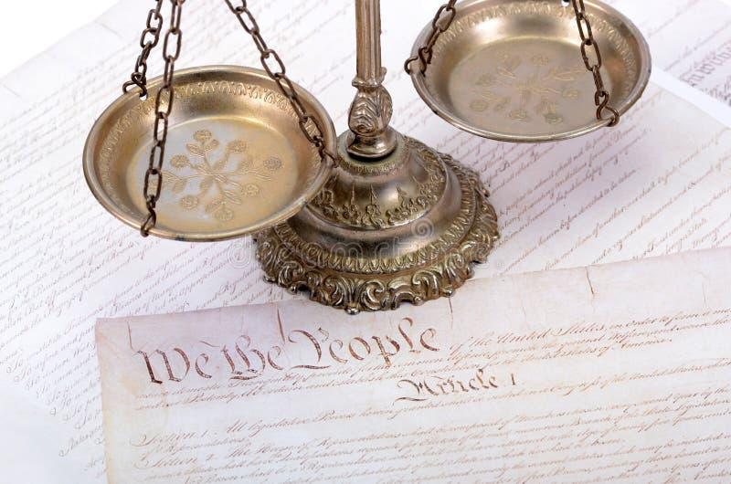 Gesetz und Gerechtigkeit stockfotografie