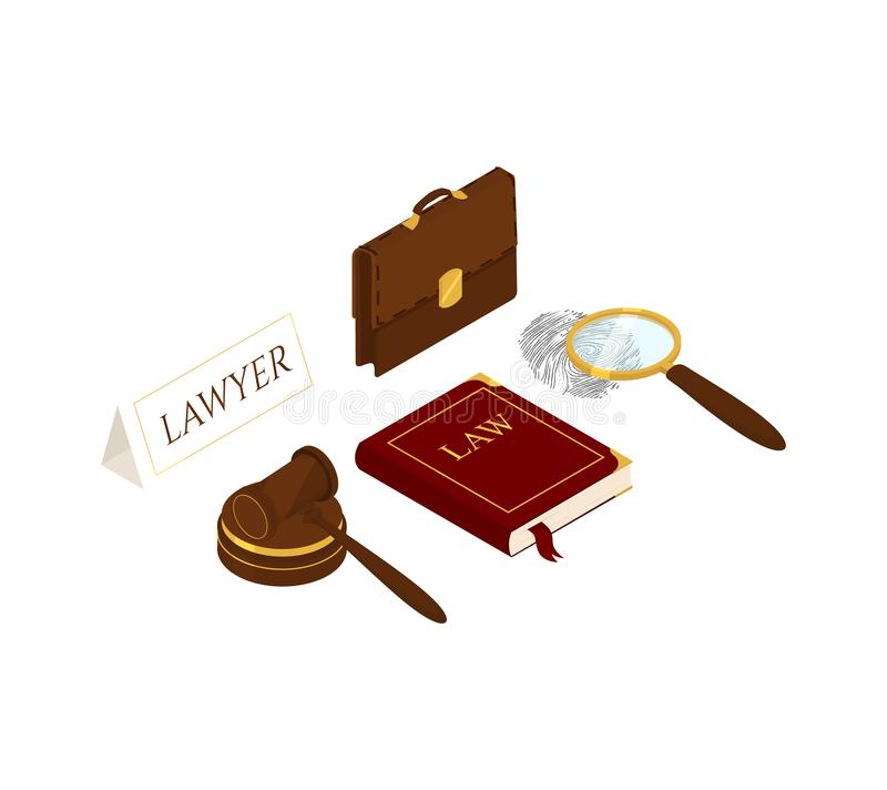 Gesetz und Gerechtigkeit isometrisch vektor abbildung
