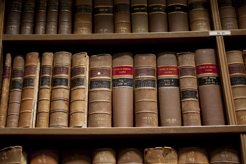 Gesetzbücher stockfotografie