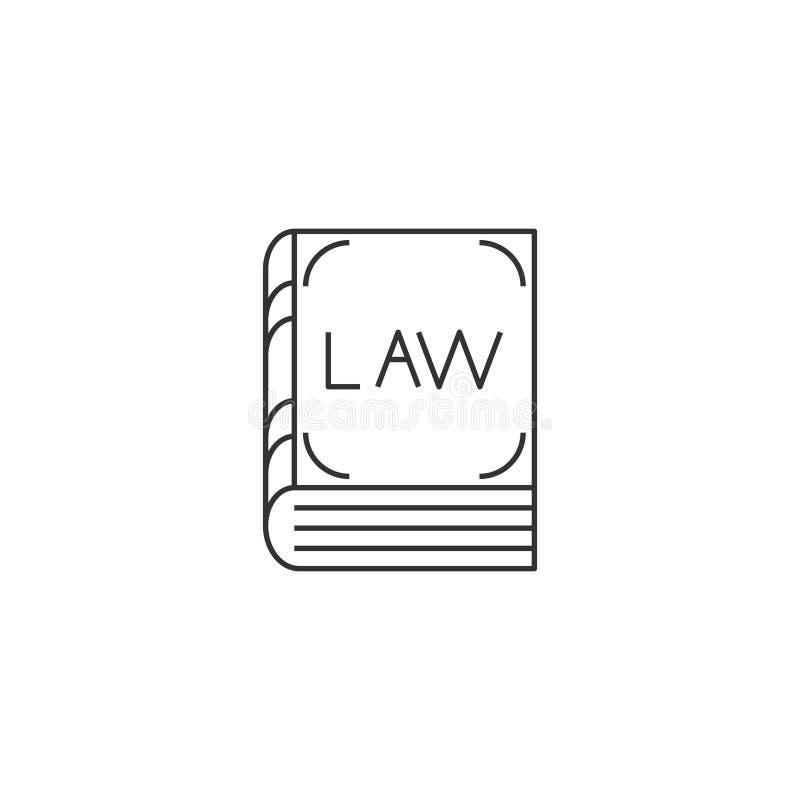 Gesetzbuchlinie Ikone vektor abbildung