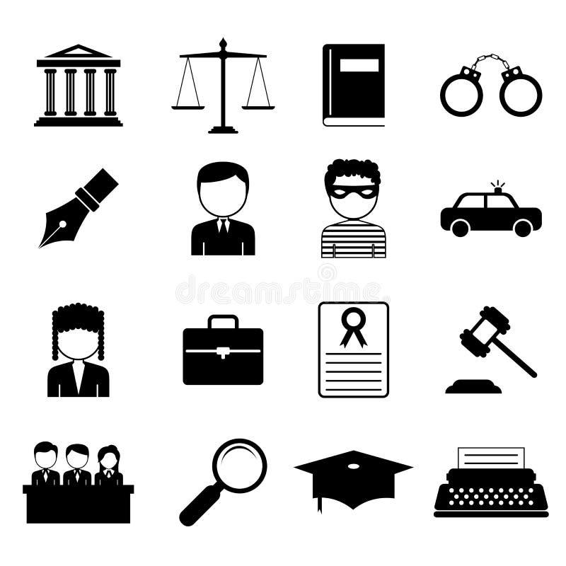 Gesetzes- und Gerechtigkeitsikone lizenzfreie abbildung