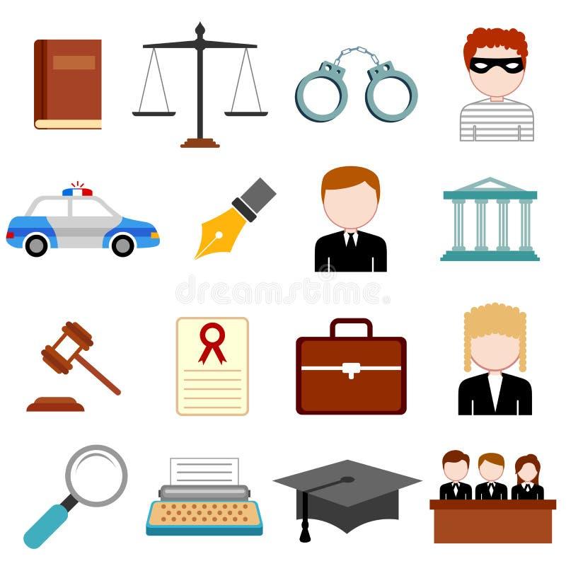 Gesetzes- und Gerechtigkeitsikone stock abbildung