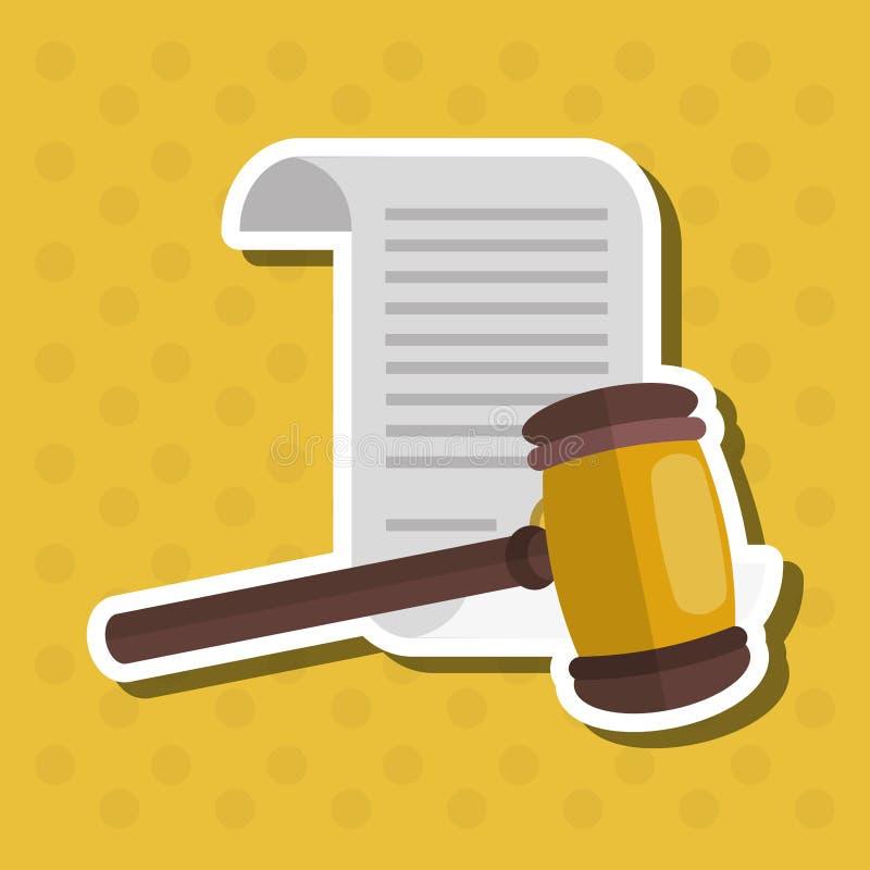 Gesetzes- und Gerechtigkeitsikone entwerfen, vector Illustration stock abbildung