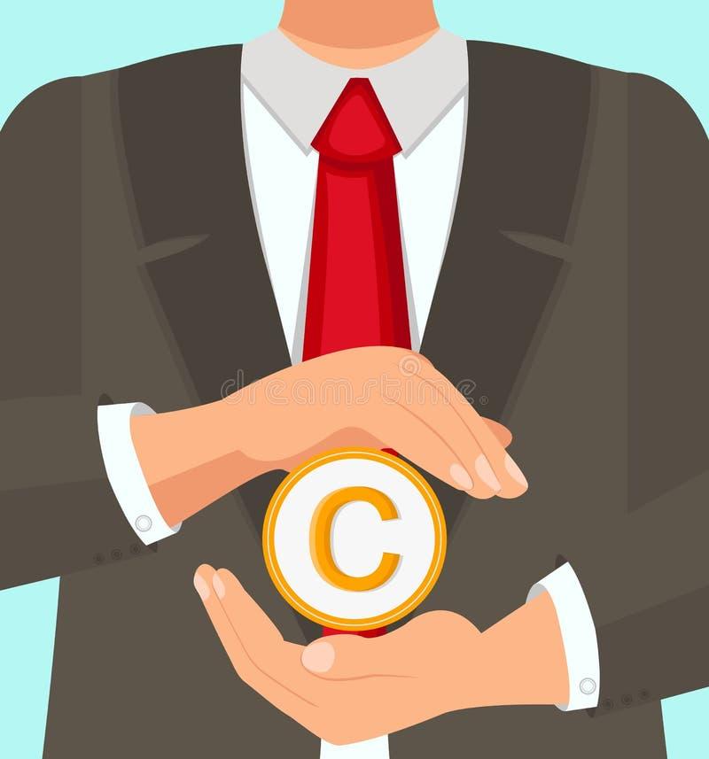 Gesetzeserfahrener Rechtsanwalt Protects Copyright Use lizenzfreie abbildung