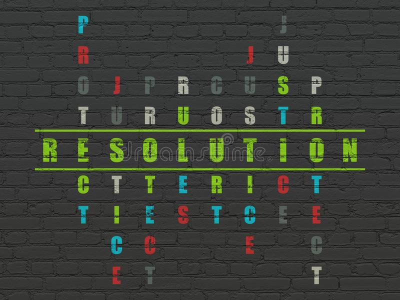 Gesetzeskonzept: Entschließung im Kreuzworträtsel lizenzfreie abbildung