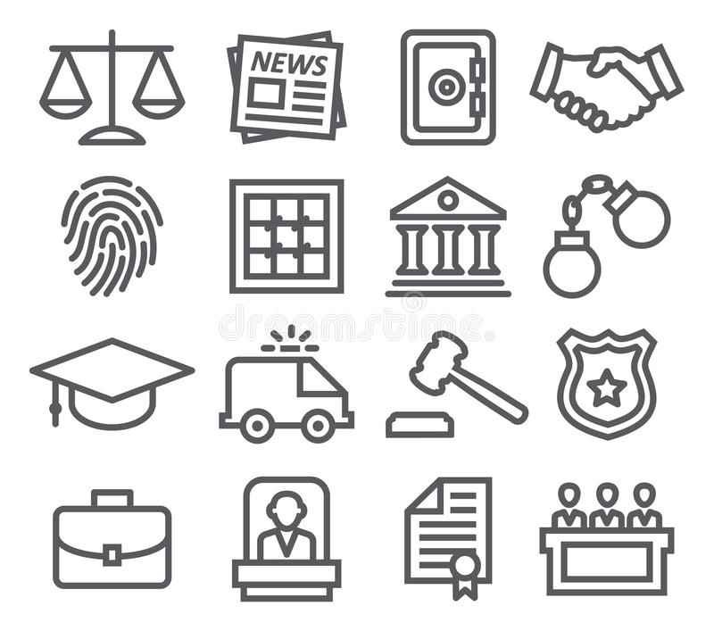 Gesetzeslinie Ikonen lizenzfreie abbildung