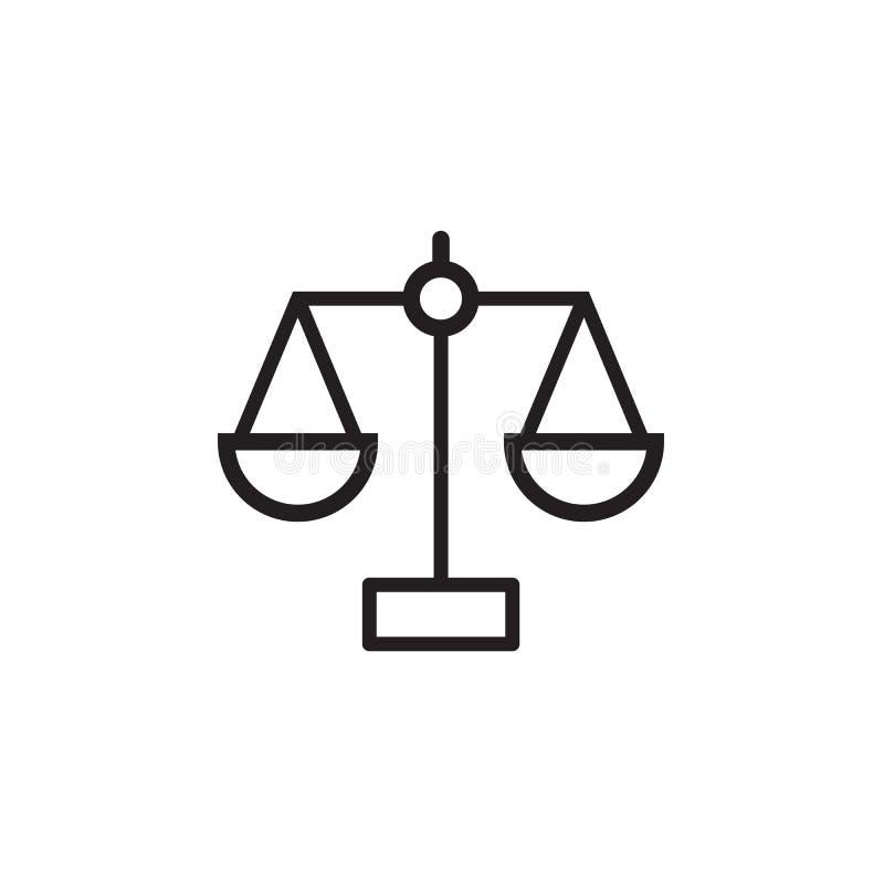 Gesetzesskalaikone Vektorillustration, EPS10 vektor abbildung