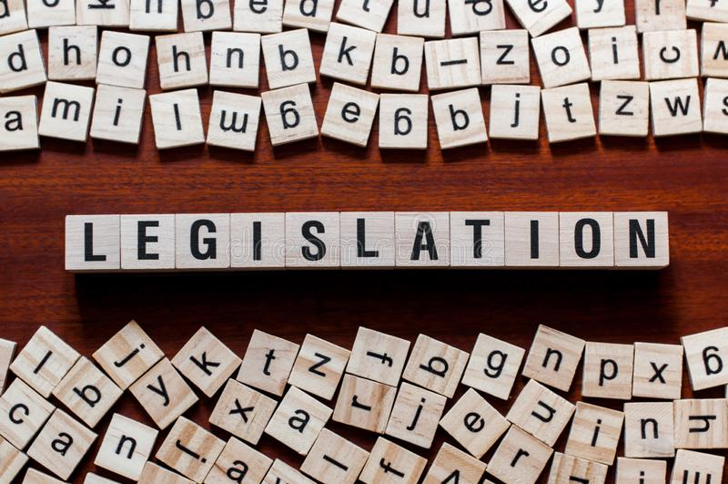 Gesetzgebungswortkonzept lizenzfreie stockbilder
