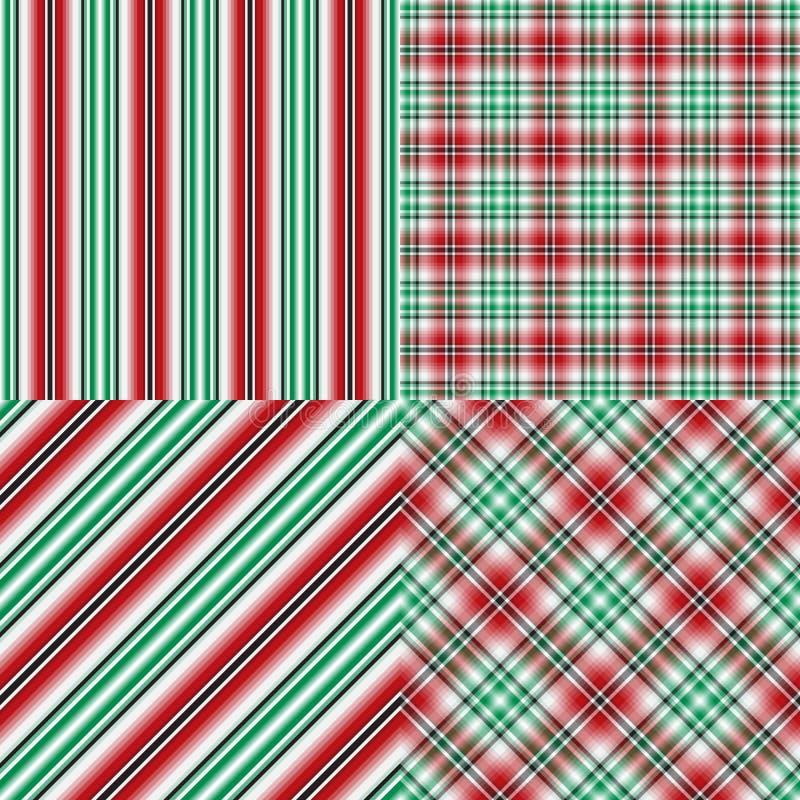 Gesetzte abstrakte nahtlose Weihnachtsmuster lizenzfreie abbildung