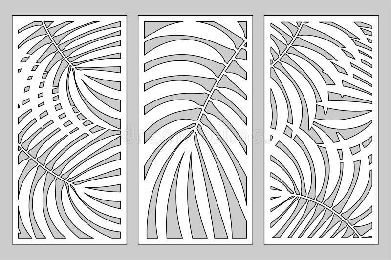 Gesetzte dekorative Karte für den Schnitt lizenzfreie abbildung