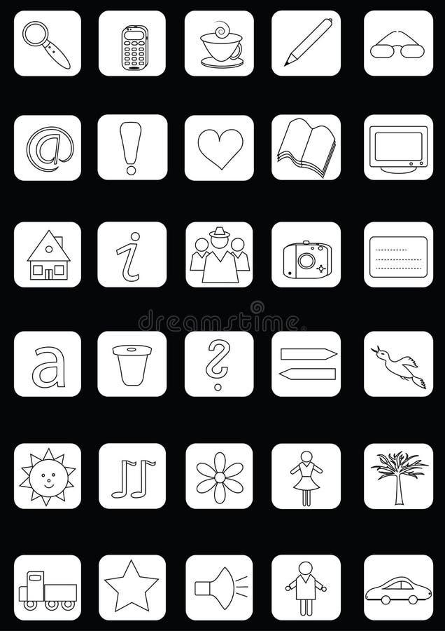 Gesetzte einfache Symbole lizenzfreie abbildung