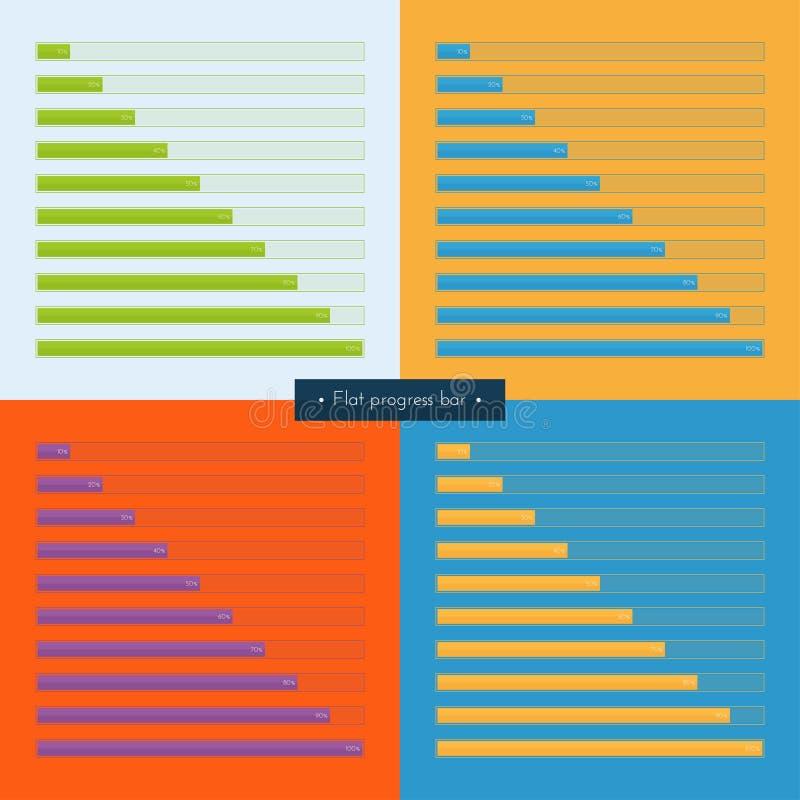 Gesetzte flache Fortschritts-Stange stock abbildung