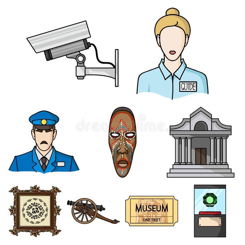 Gesetzte Ikonen des Museums vektor abbildung