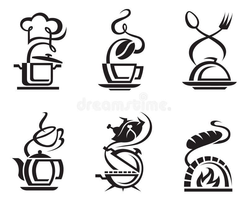 Gesetzte Mahlzeit der Ikone vektor abbildung
