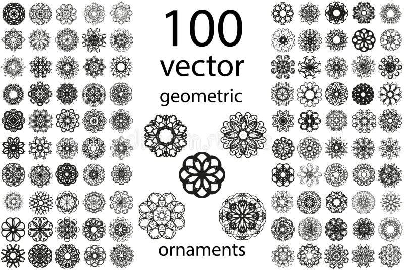 Gesetzte runde Verzierung vektor abbildung