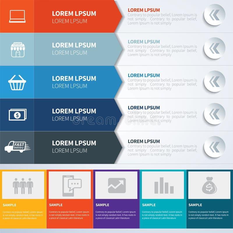 Gesetzte Schablonen Infographics vektor abbildung