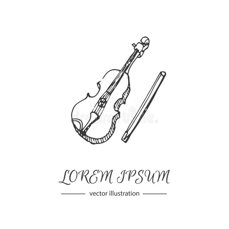 Gesetzte Violine der Musik lizenzfreie abbildung
