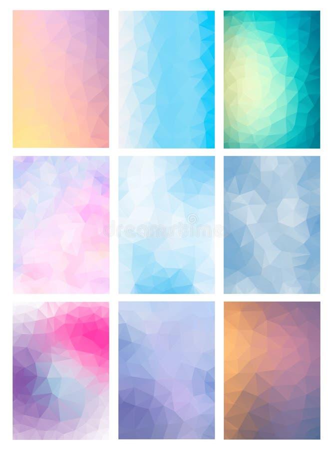 Gesetzter abstrakter moderner Poligonal-Hintergrund lizenzfreie abbildung
