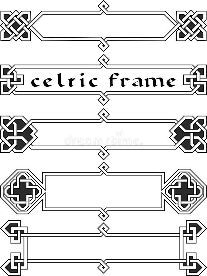 Gesetzter keltischer Rahmen stock abbildung