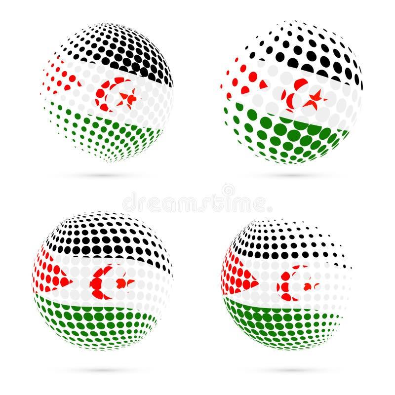 Gesetzter patriotischer Vektor Westsahara-Halbtonflagge vektor abbildung