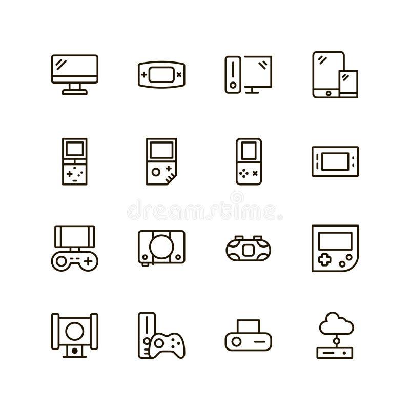 Gesetzter Vektor der Spielkonsolen-Ikone stock abbildung
