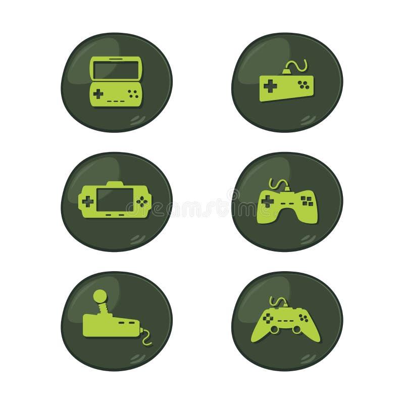 Gesetzter Vektor der Spielkonsolen-Ikone lizenzfreie abbildung