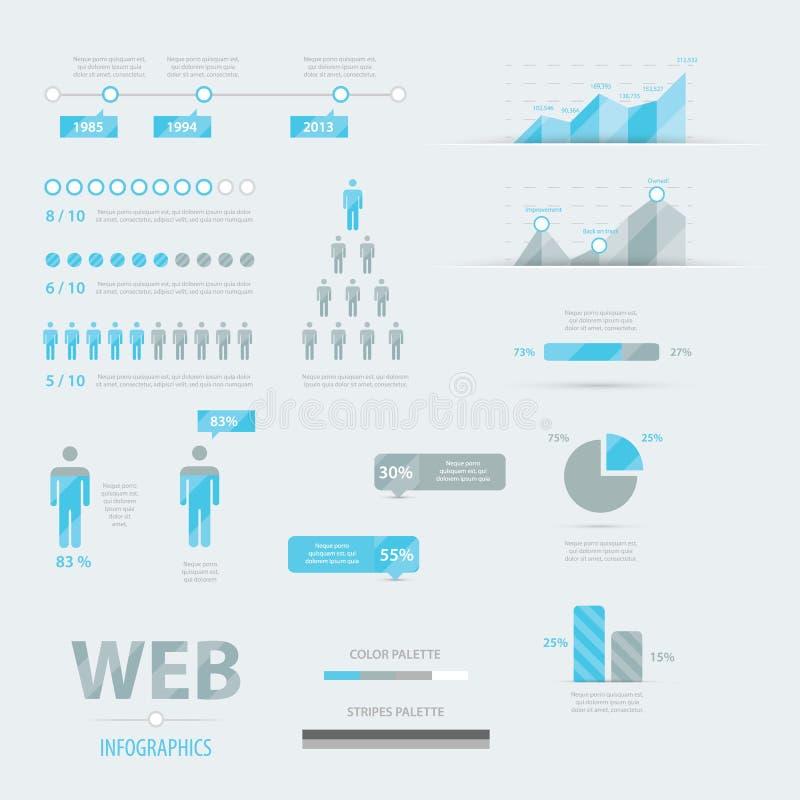 Gesetzter Vektor EPS10 der Infographic-Netzgeschäfts-Ikone vektor abbildung