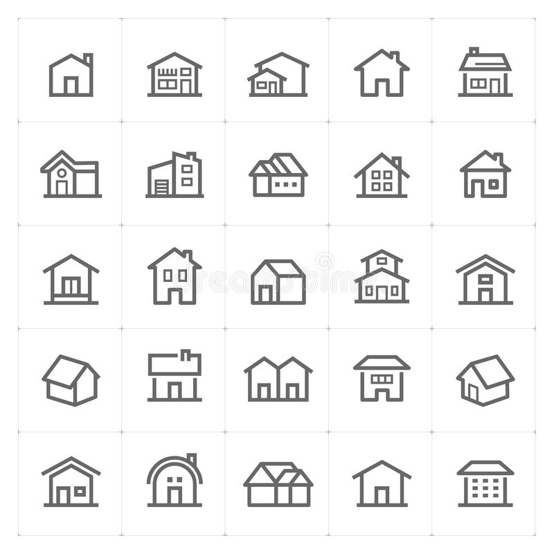 "Gesetztes †Mini Icons ""Hauptikonen-Vektorillustration lizenzfreie abbildung"