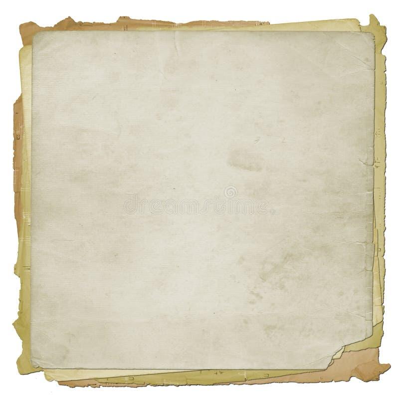 Gesetztes altes grunge Papier stock abbildung