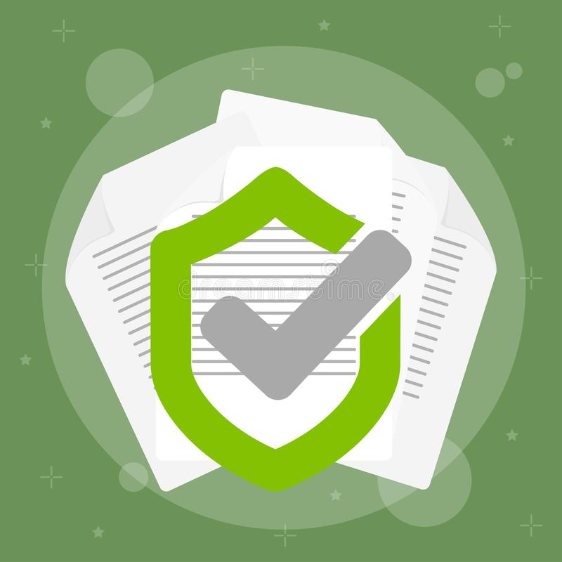Gesicherte Daten mit Papier stock abbildung