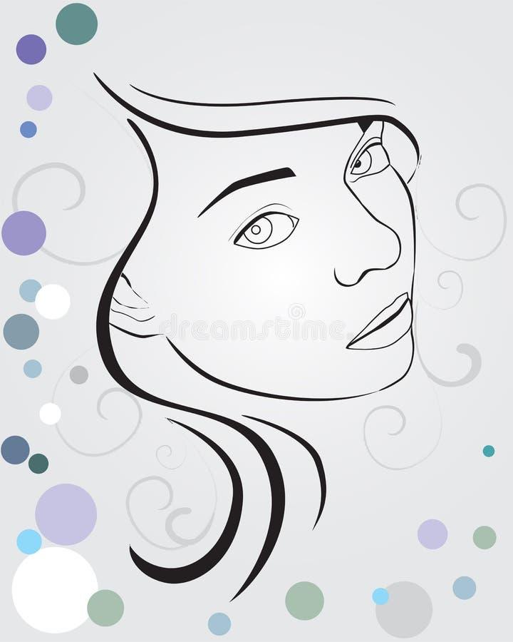 Gesicht lizenzfreie abbildung