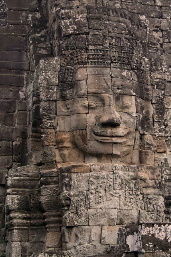 Gesicht auf Angkor Wat Tempel stockfoto