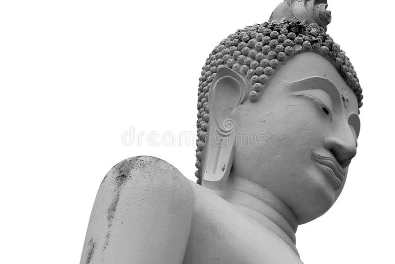 Gesicht der Buddha-Statue stockbild