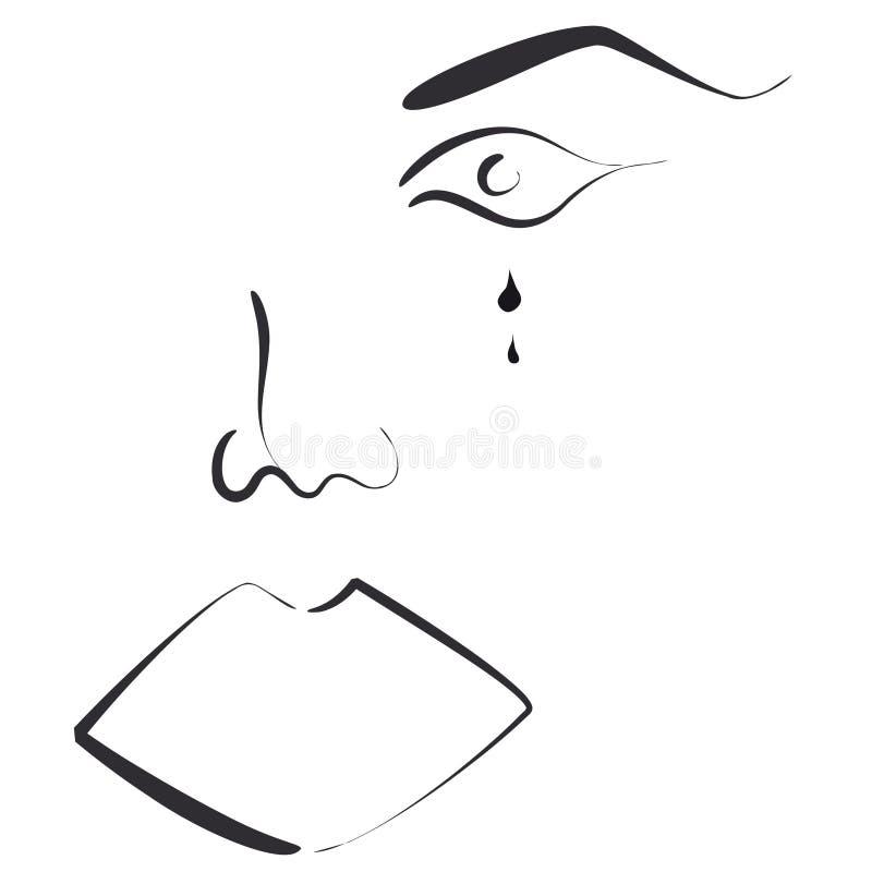 Gesicht der Frau vektor abbildung