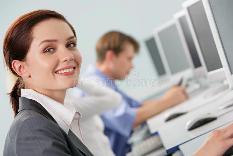 Gesicht der Geschäftsfrau stockfotos