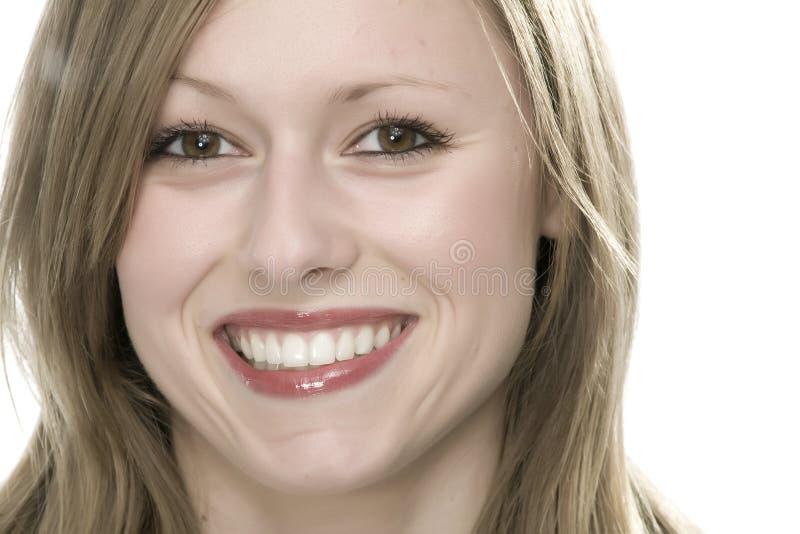 Gesicht der jungen Frau stockfotografie