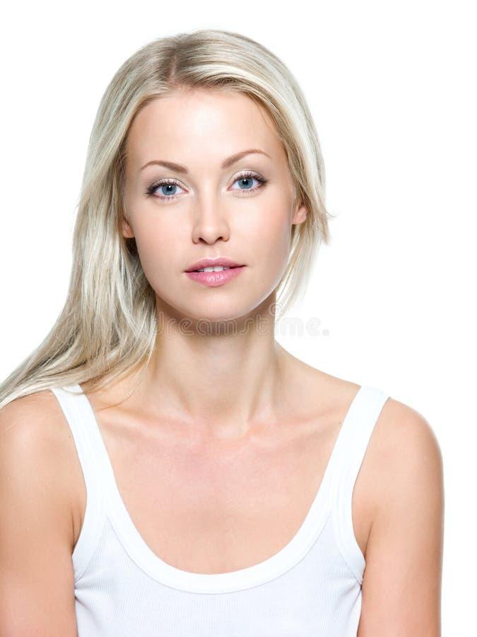 Gesicht der schönen Frau stockfotografie