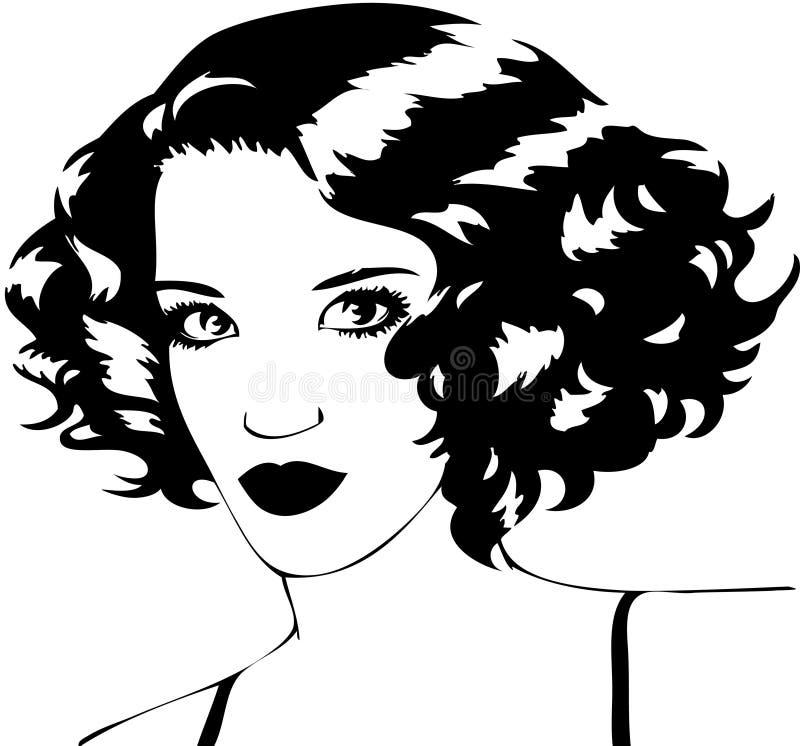 Gesicht der schönen Frau vektor abbildung